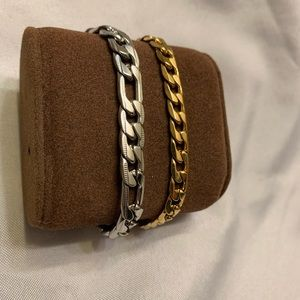 Accessories - Set of Two Stainless Steel Bracelets